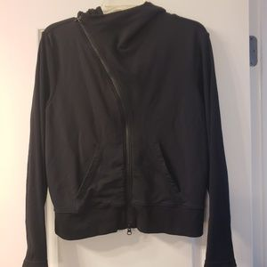 Black Athleta hooded fitness jacket size L